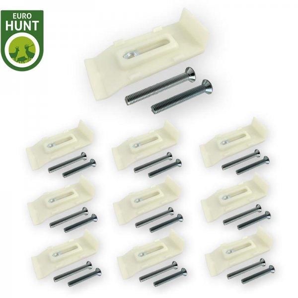 10er-Kunststoff-Gehörnklammer-Set