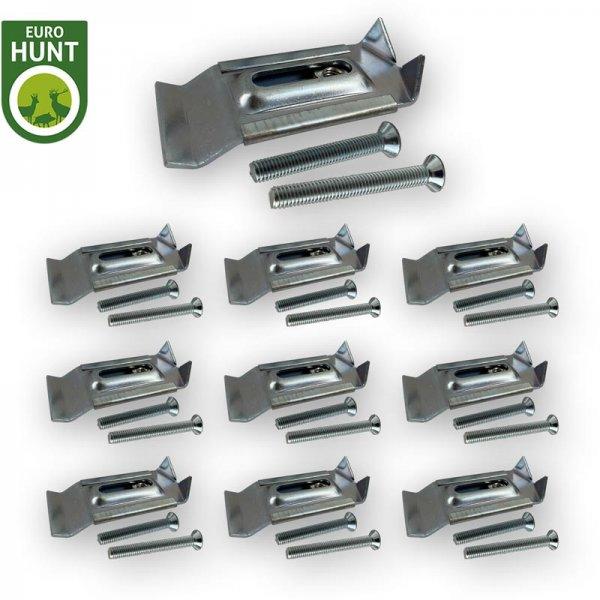 10er-Metall-Gehörnklammer-Set