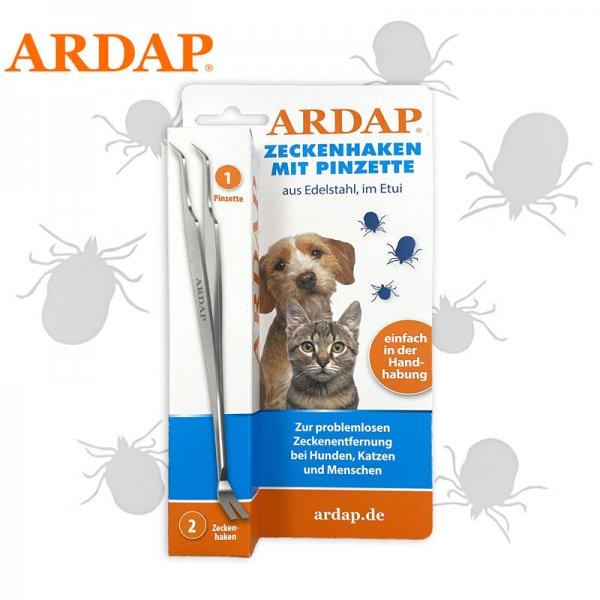ARDAP® Zeckenhaken mit Pinzette